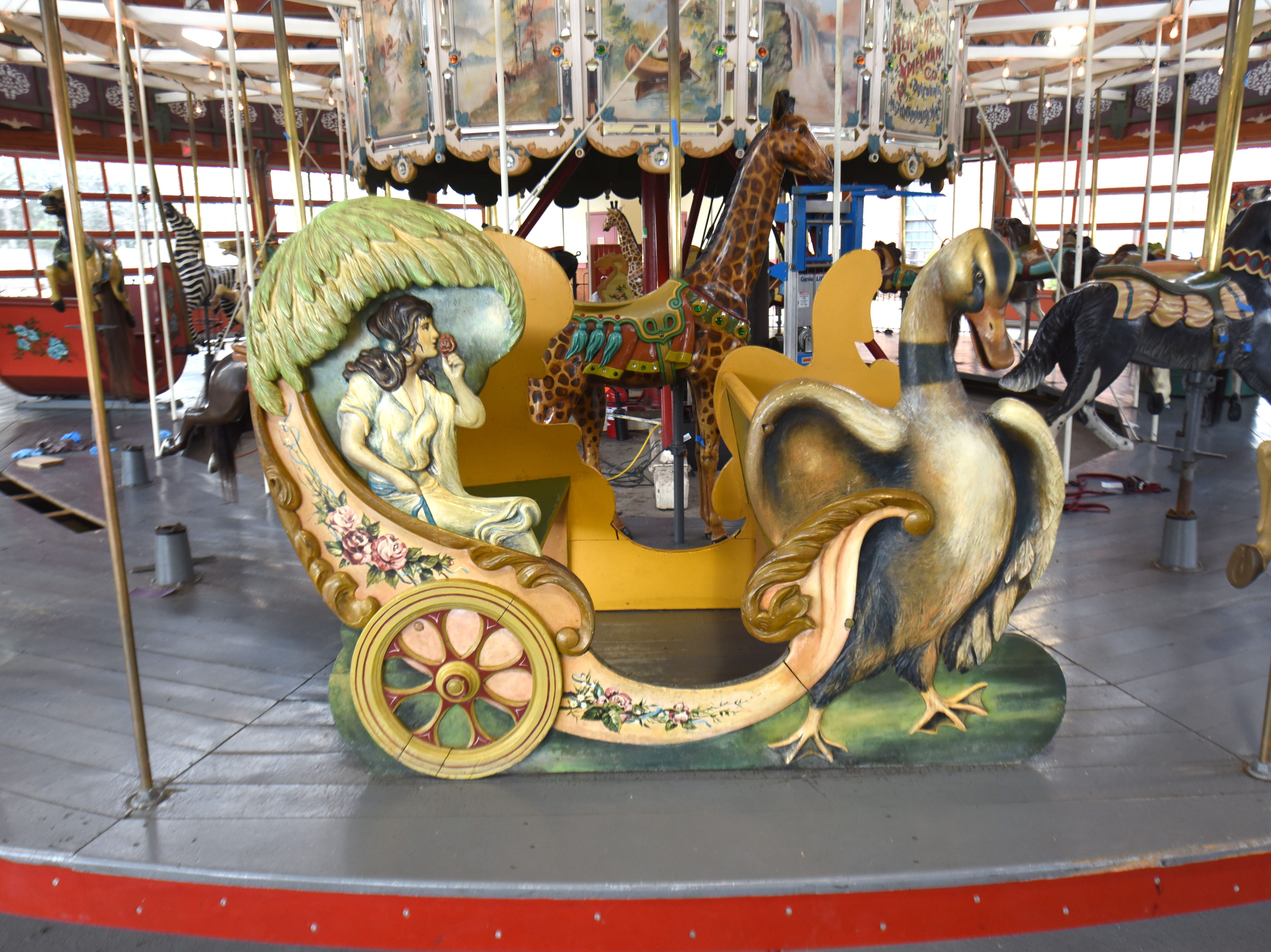 A Chariot is fully restored by Julie Fournier.