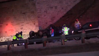 One person was injured in a rollover crash on State 151 near Hickory Street in the Town of Fond du Lac shortly after 7 p.m. Friday, March 15, 2019.