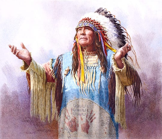 "Joseph Bohler's ""Hear Me Oh Great Spirit"" will be featured at the Prix de West Invitational Art Exhibition at the National Cowboy and Western Heritage Museum in Oklahoma City, Okla."