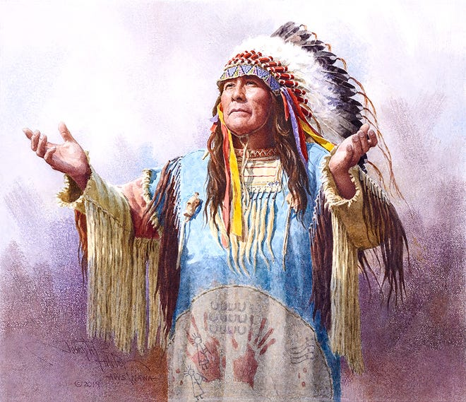 """Joseph Bohler's """"Hear Me Oh Great Spirit"""" will be featured at the Prix de West Invitational Art Exhibition at the National Cowboy and Western Heritage Museum in Oklahoma City, Okla."""