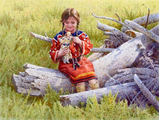 "Joseph Bohler's ""The Little Doll"" will be featured at the Prix de West Invitational Art Exhibition in June at the National Cowboy and Western Heritage Museum in Oklahoma City, Okla."