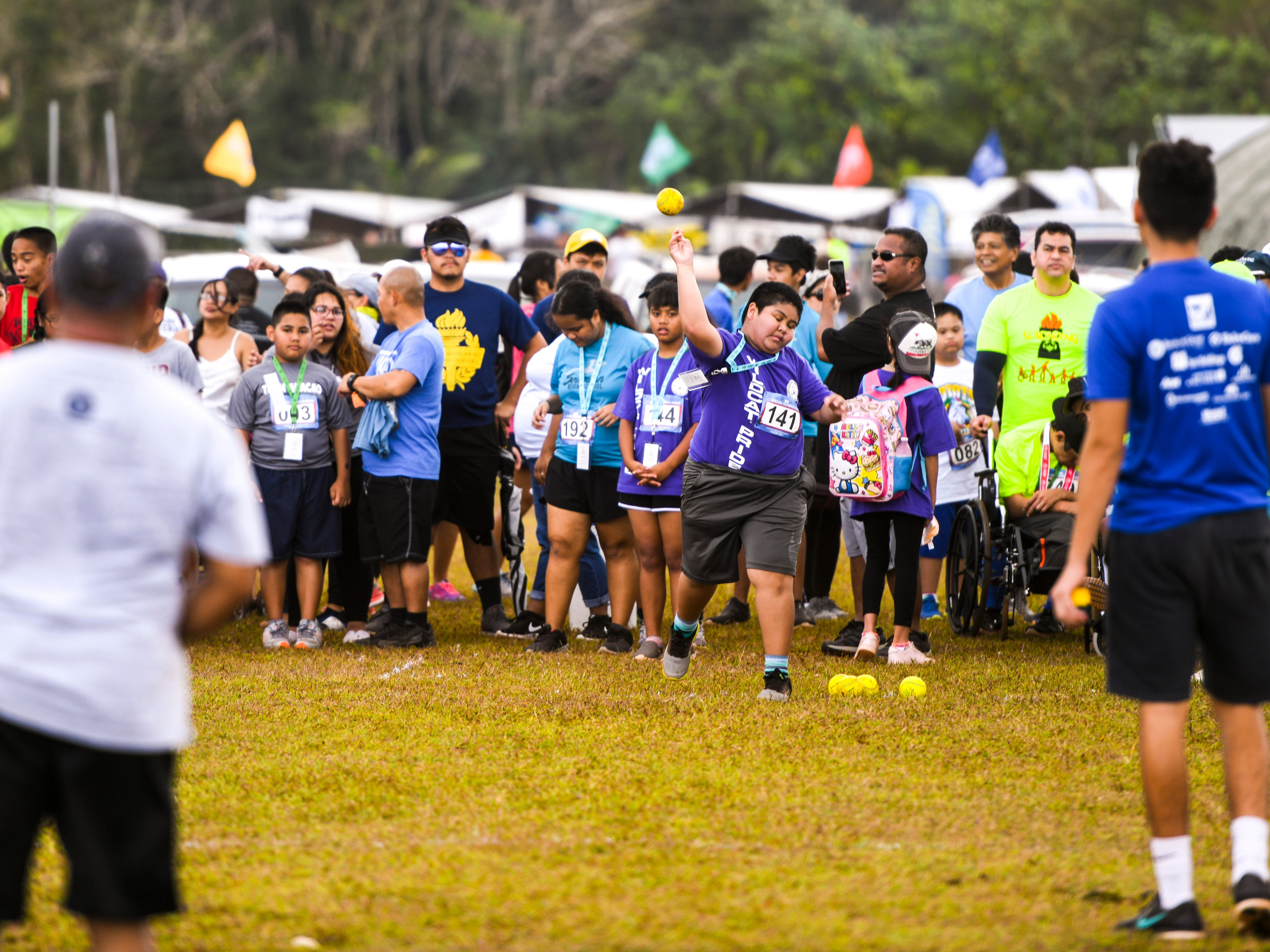Special Olympians give their all as they compete in the 43rd Special Olympics Guam Track & Field competition at Okkodo High School in Dededo on Saturday, March 16, 2019.