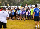 Special Olympians compete in track and field events during the 43rd Special Olympics Guam at Okkodo High School on March 16, 2019.
