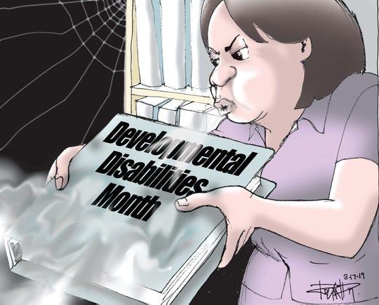 Sunday cartoon on developmental disibilities.