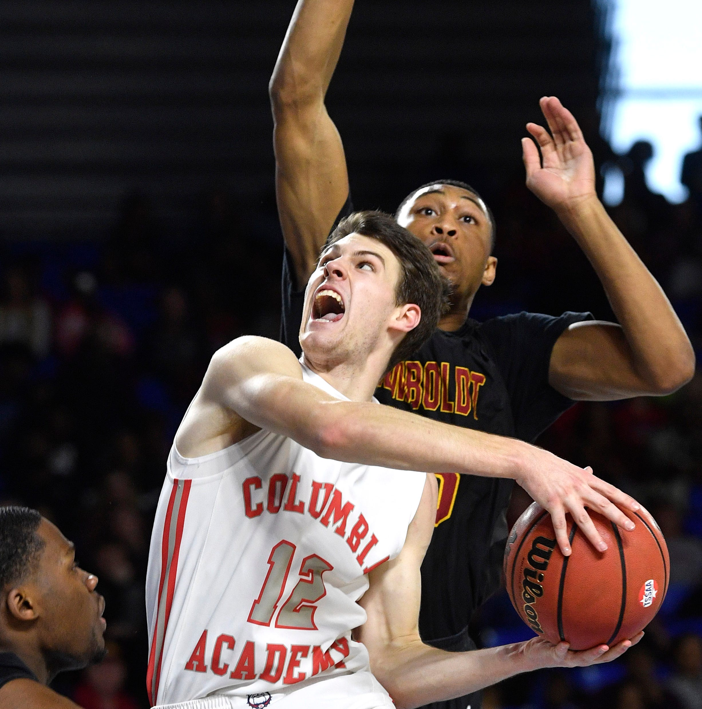 Eight seniors finish third straight state trip with Columbia Academy's first boys basketball title
