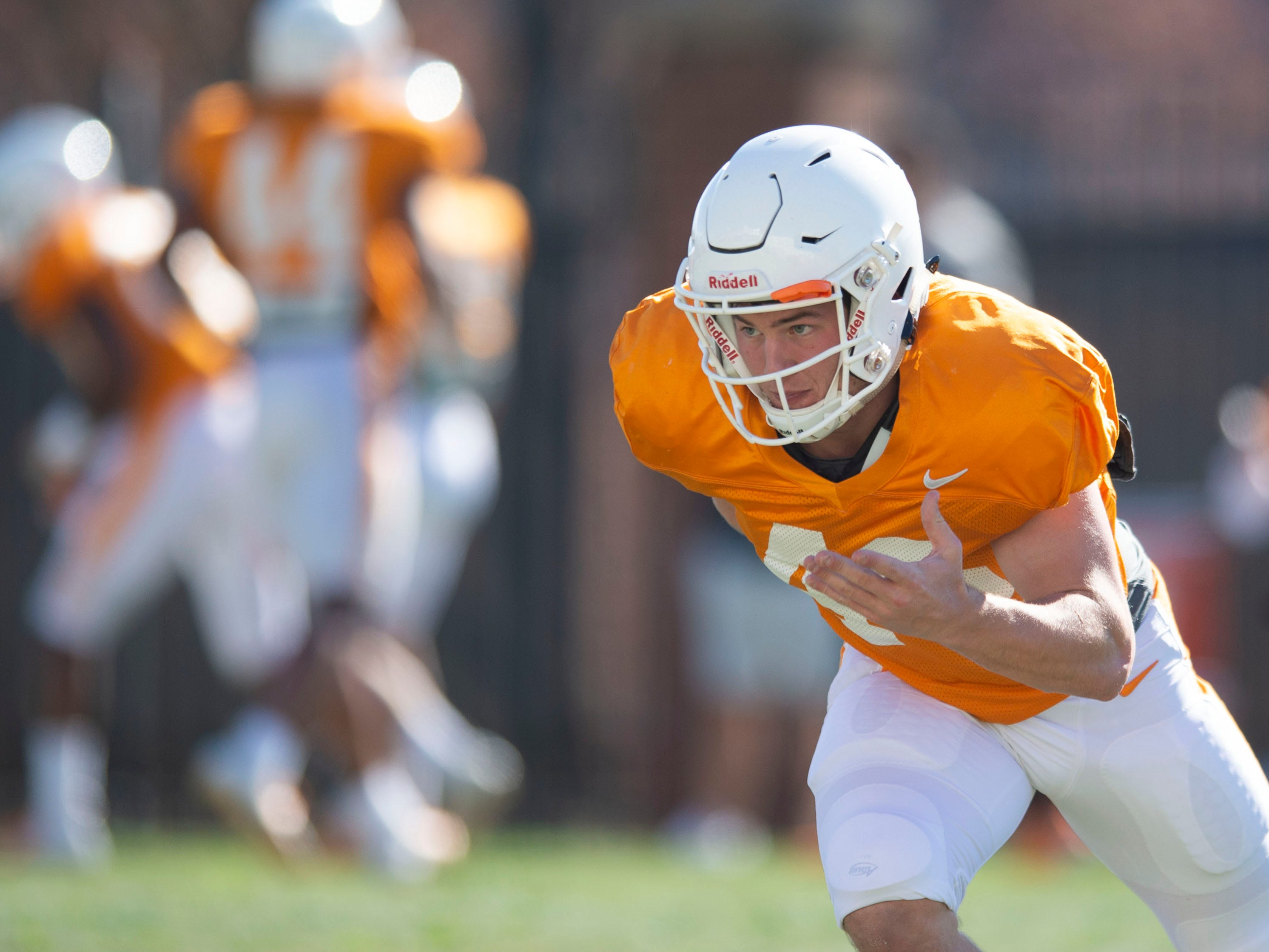 Tennessee linebacker Cameron Miller (46) during football practice on Friday, March 15, 2019.