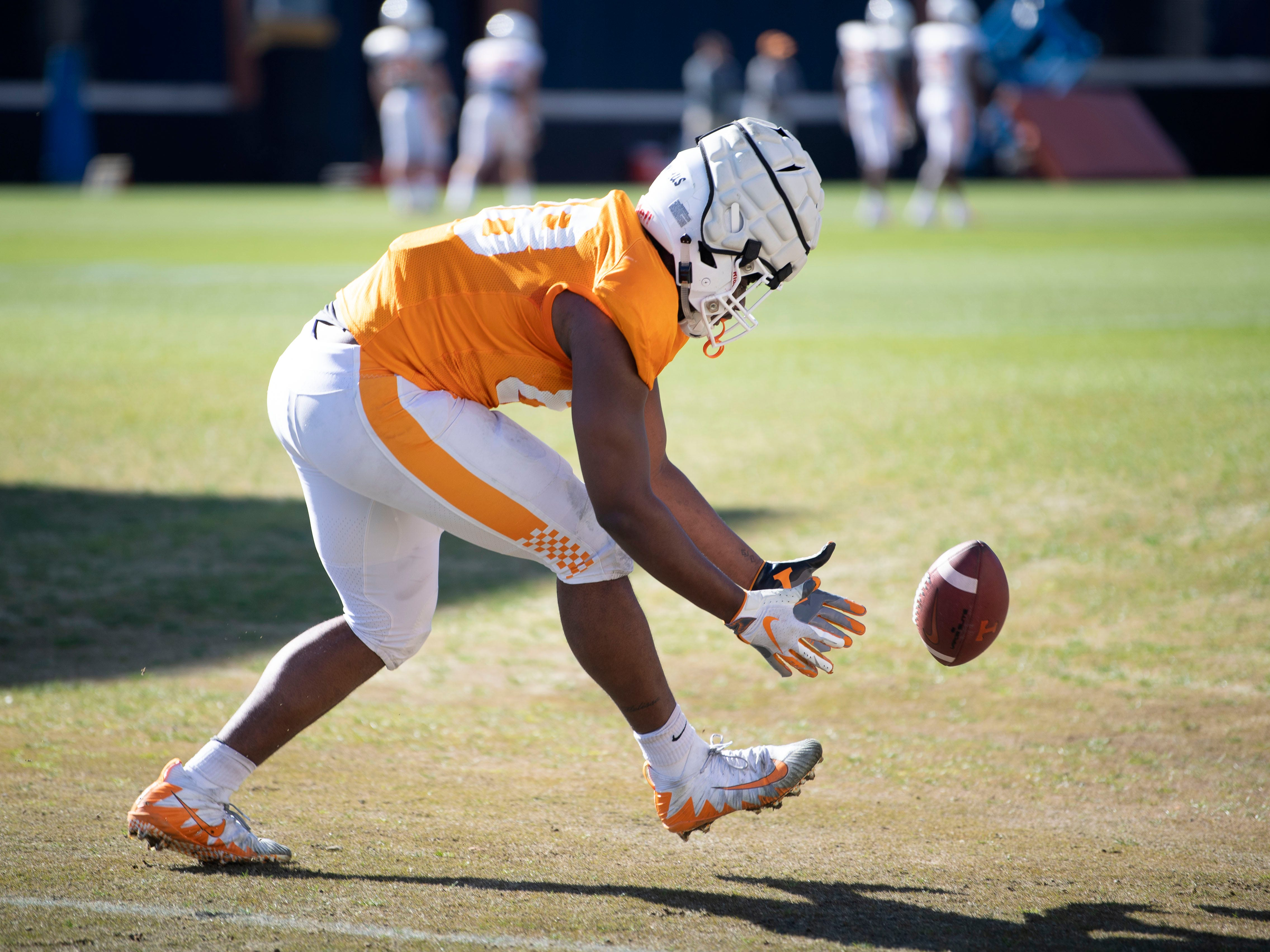 Tennessee defensive lineman LaTrell Bumphus (88) at practice on Friday, March 15, 2019.