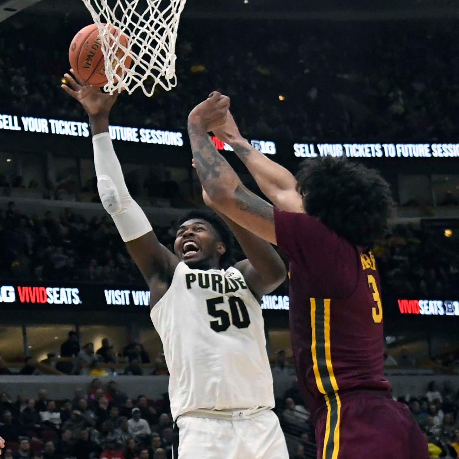 Purdue basketball's young bench took first postseason steps in loss to Minnesota