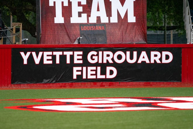 The new sign at Yvette Girouard Field is shown. Team USA and Scrap Yard Fast Pitch will compete in an exhibition series this month at Yvette Girouard Field in Lamson Park.