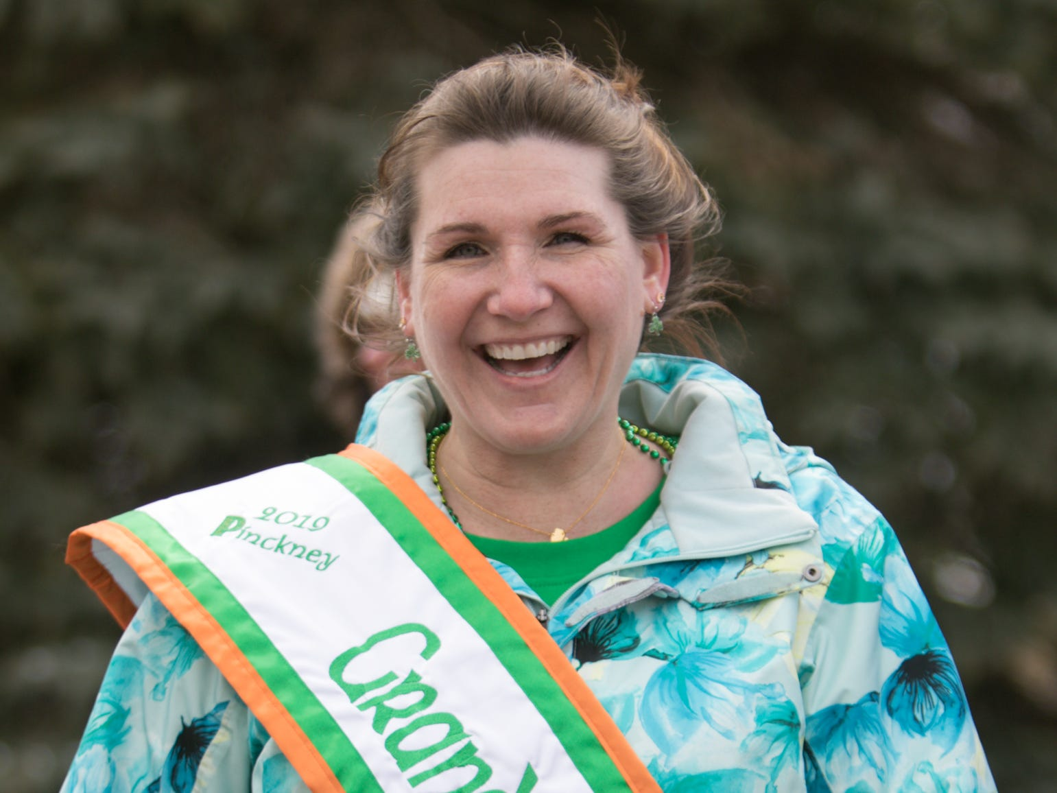 Michelle Brunner is the 2019 grand marshal of the Pinckney St. Patrick's Day parade, held Saturday, March 16, 2019.
