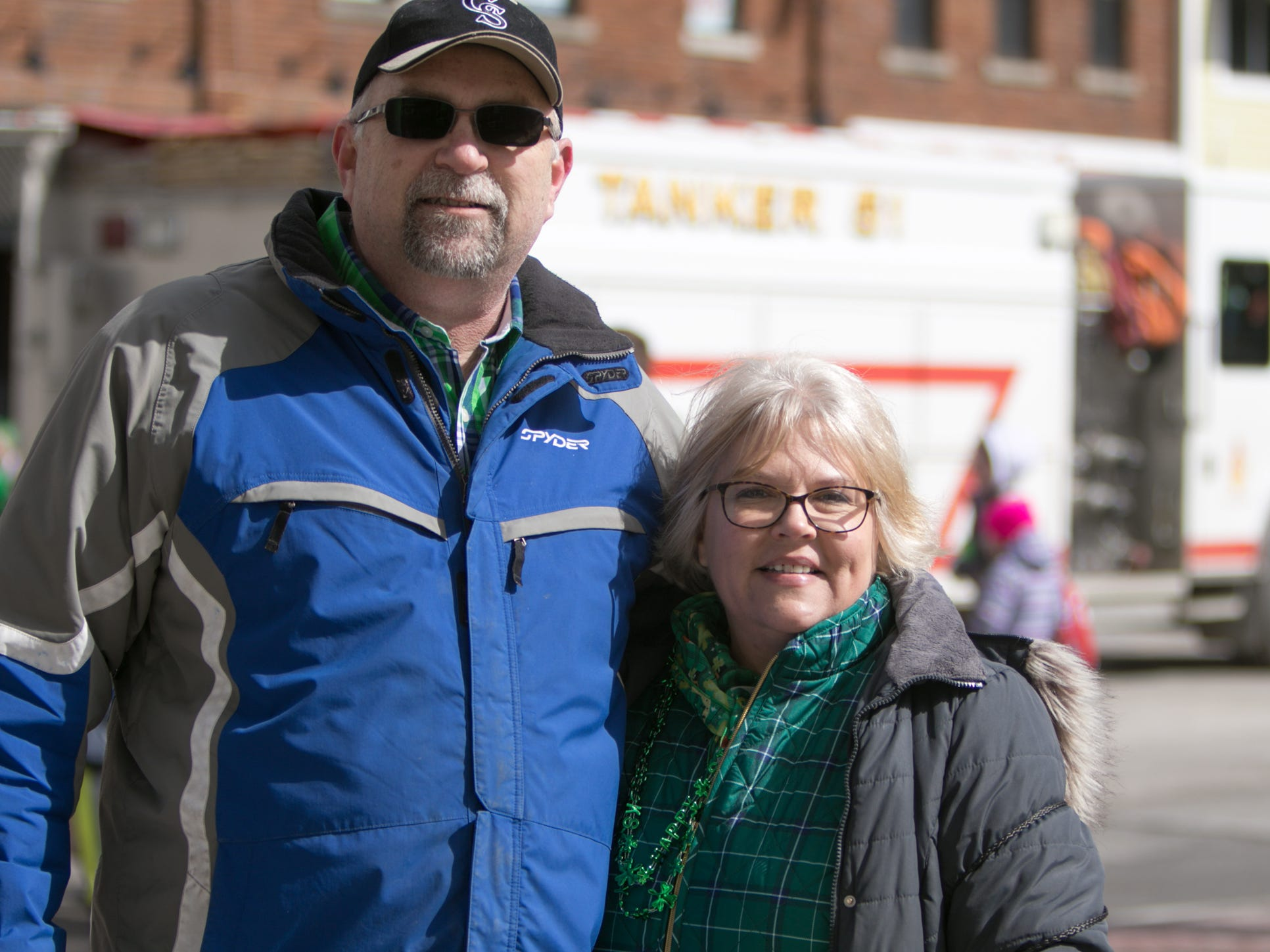 Ron and Susie Tennyson organized this year's Pinckney St. Patrick's Day parade Saturday, March 16, 2019.