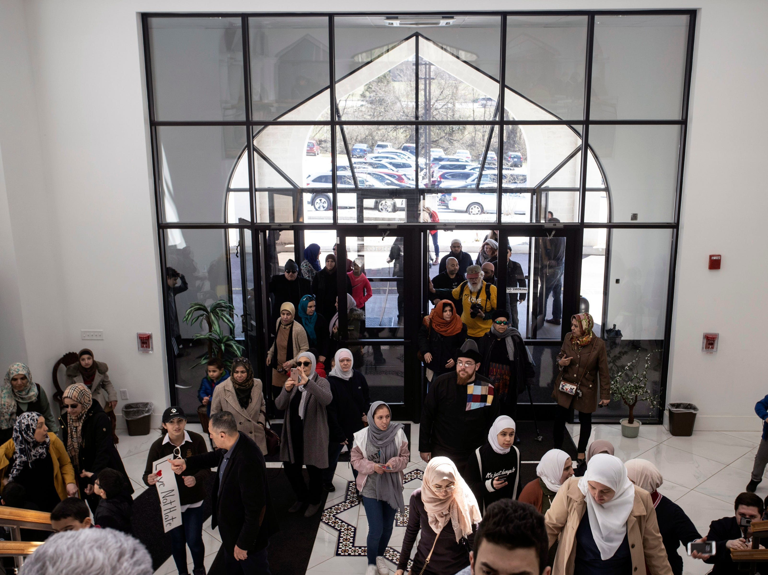 The Muslim Community Center of Louisville filled up on Saturday afternoon as hundreds mourned the victims of the mass shooting at a New Zealand mosque on Friday. 3/16/19