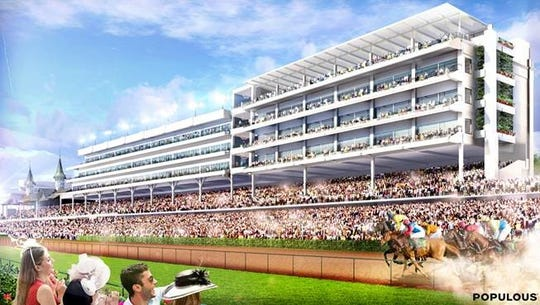Artist rendering of the Rooftop Lounge, located on top of the Starting Gate Suites at Churchill Downs.