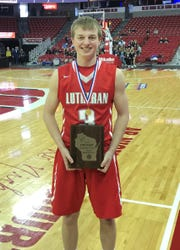 Manitowoc Lutheran's Trey Zastrow won the WIAA 3-Point Challenge on Saturday at the Kohl Center in Madison.