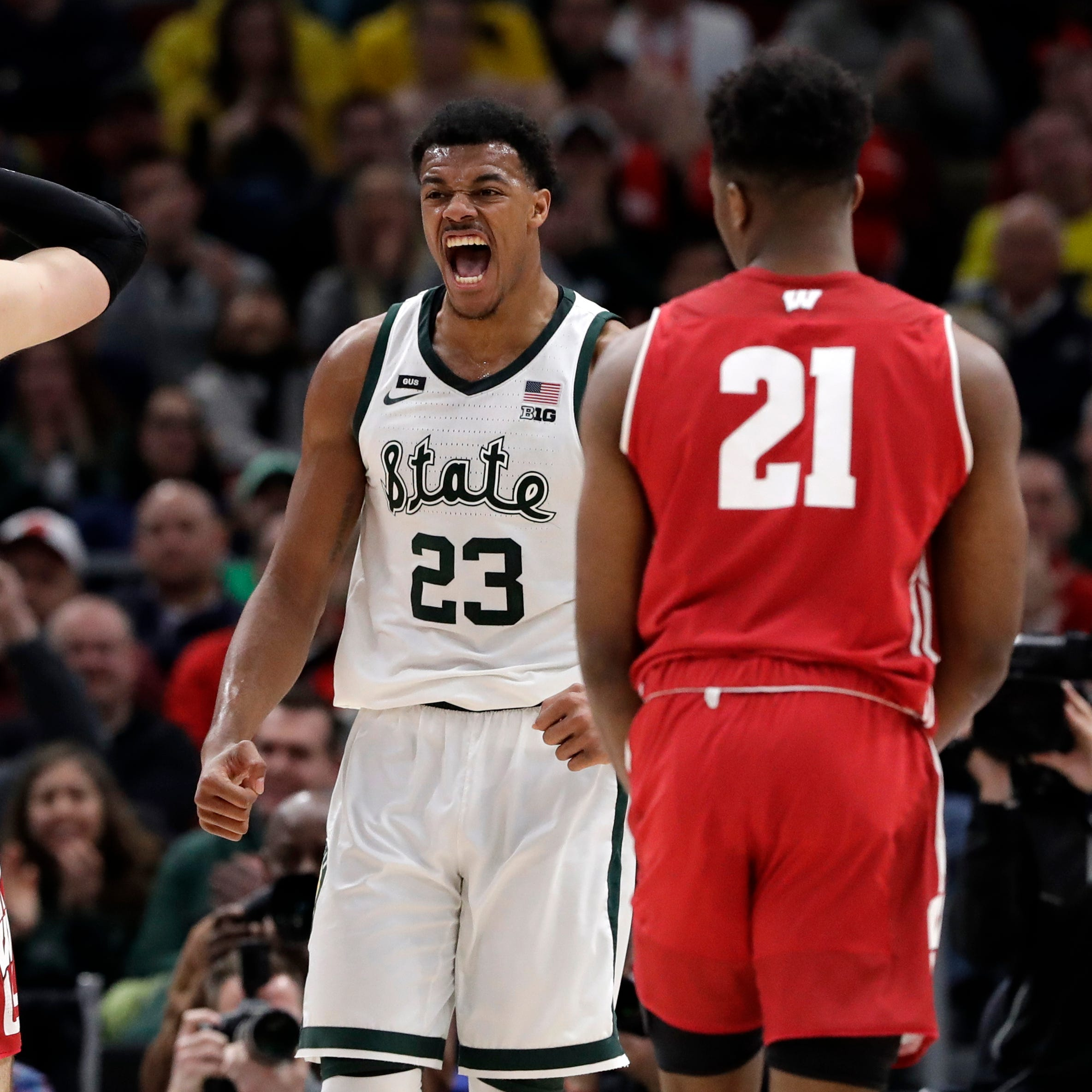 Michigan State 67: UW 55: Spartans started quickly and kept the Badgers at bay all game
