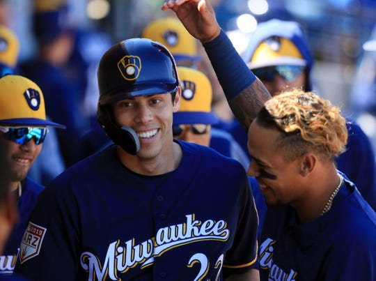 Christian Yelich, the National League MVP last season, is under contract to the Brewers through 2022.