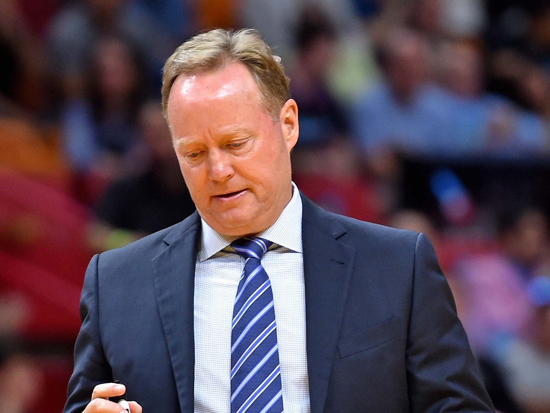 Milwaukee Bucks head coach Mike Budenholzer watched his team struggle in the first half.