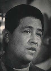 The first Cesar E. Chavez Birthday Celebration focuses on the life and inspriation of the human rights and labor activist (shown in a 1969 photo in Milwaukee).