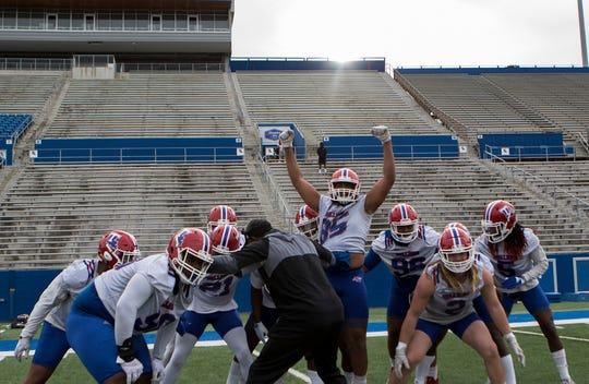 Louisiana Tech hosted its first Spring football practice at Joe Aillet Stadium in Ruston, La. on March 15.