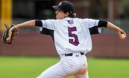 Alabama Christian Academy's Benjamin Johnson pitches against Prattville Christian Academy In Montgomery, Ala., on Friday March 15, 2019.