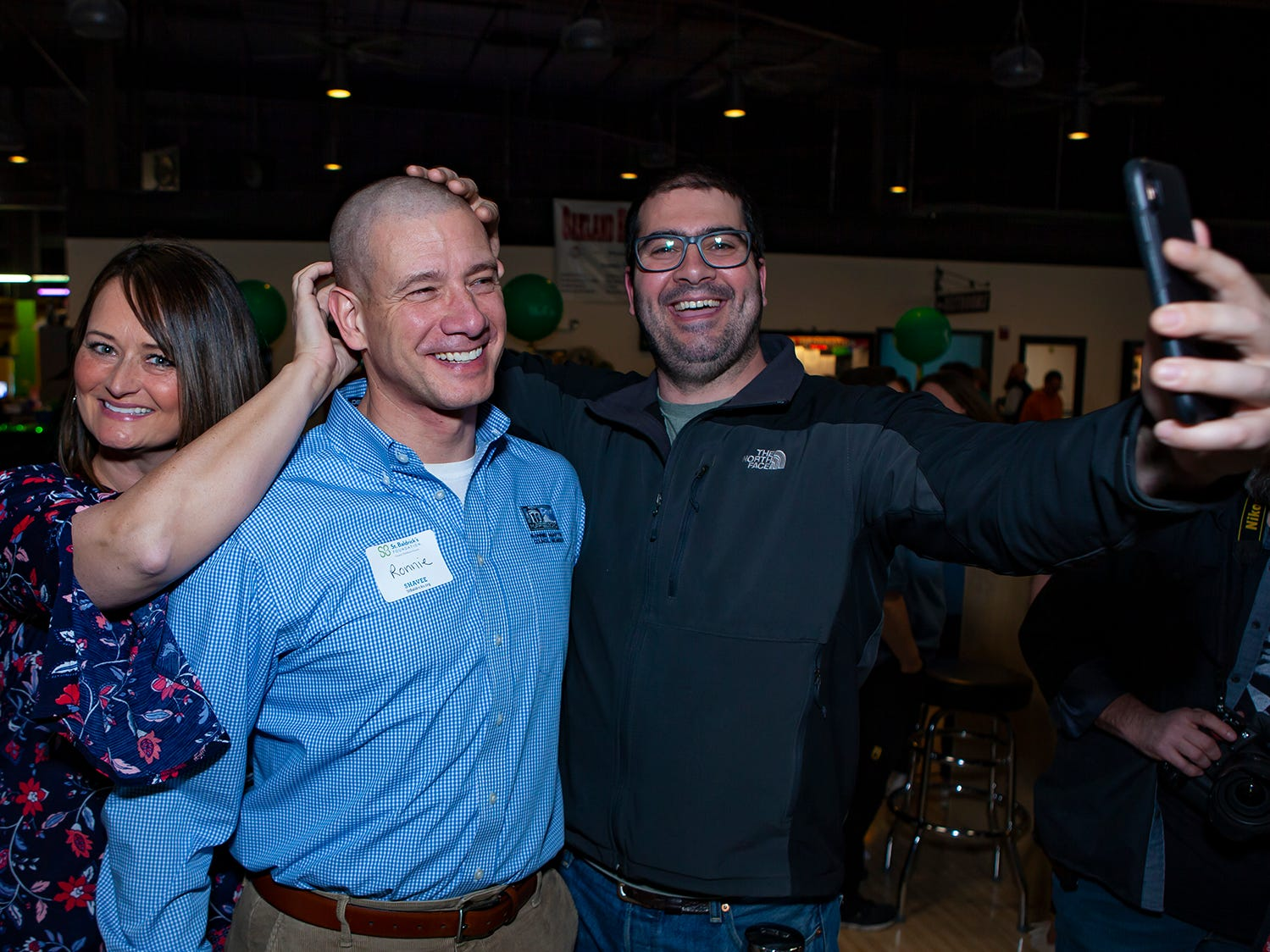 More than 80 volunteers participated in the ninth annual Bald in the Boro fundraiser for the St. Baldrick's Foundation, which fights childhood cancer. The event was held Friday, March 15, 2019 at Lanes, Trains and Automobiles in Murfreesboro.