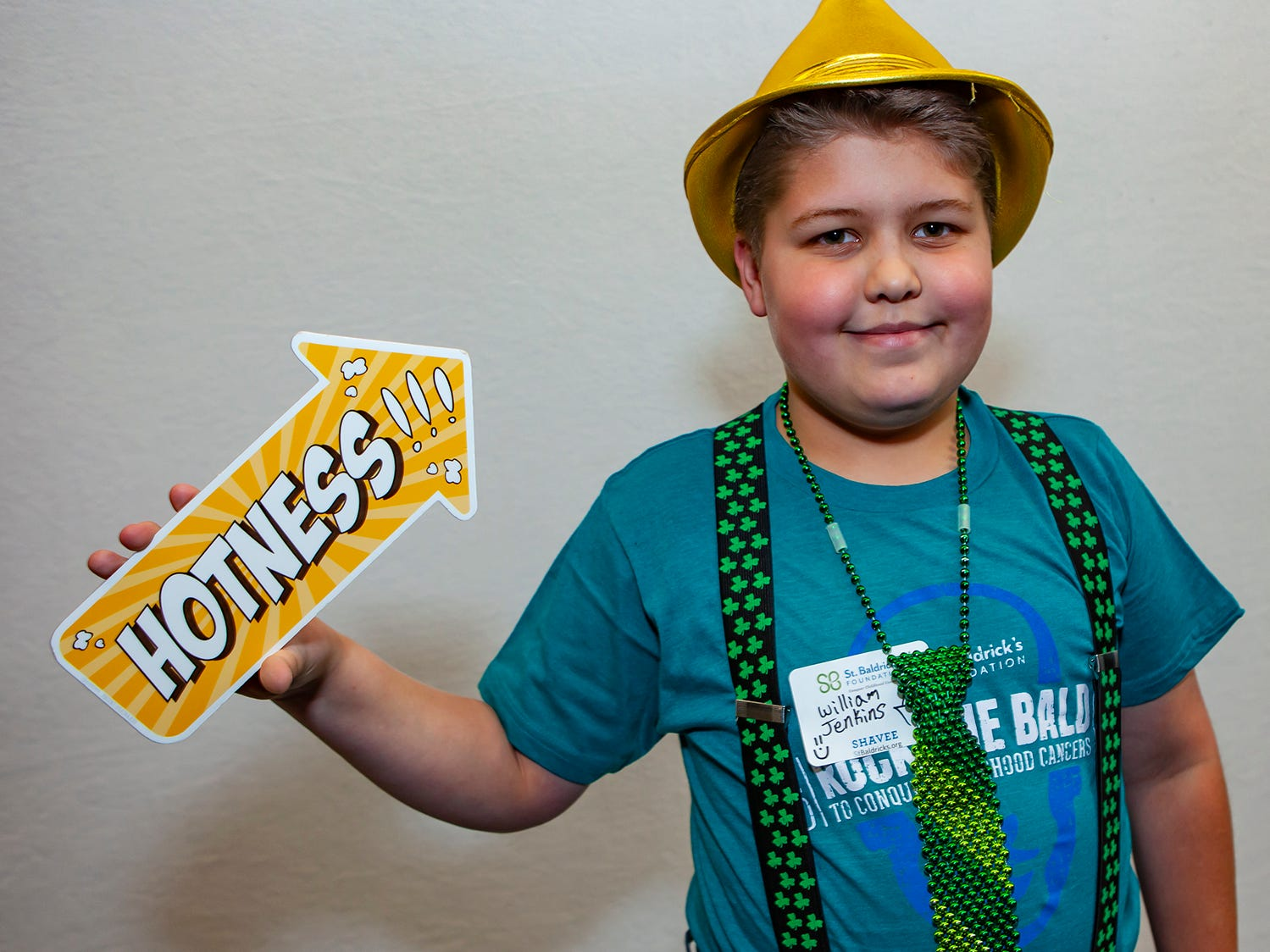 William Jenkins gets one last photo before volunteering to shave his head at the ninth annual Bald in the Boro fundraiser for the St. Baldrick's Foundation. The event was held Friday, March 15, 2019 at Lanes, Trains and Automobiles in Murfreesboro.