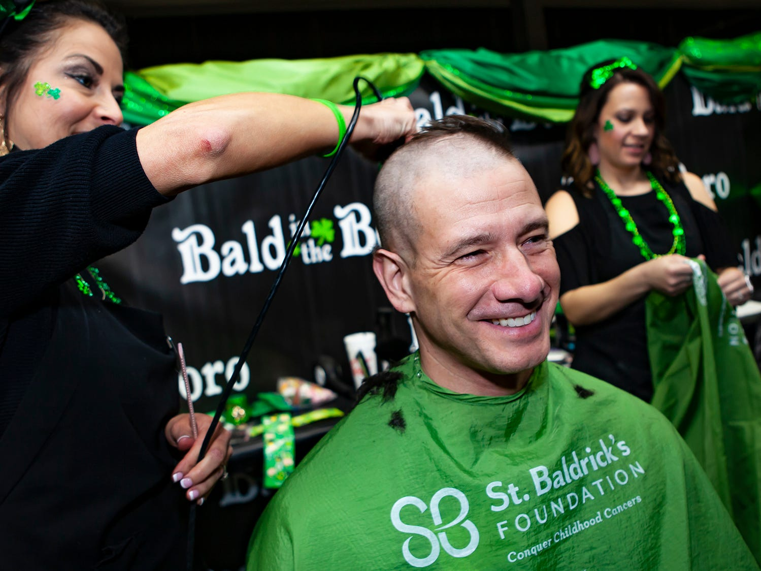 Murfreesboro City Councilman Ronnie Martin shaved his head at the ninth annual Bald in the Boro fundraiser for the St. Baldrick's Foundation. The event was held Friday, March 15, 2019 at Lanes, Trains and Automobiles in Murfreesboro.