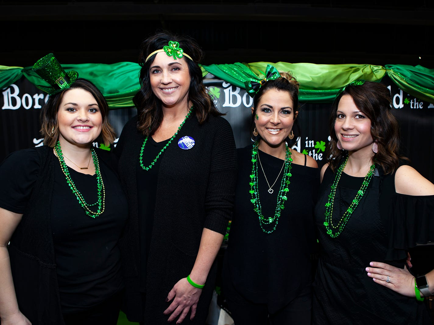 Brittnie Bern, Tracy Tucker, Darlene Skaggs  and Lisa Gooch from Beehive Salon volunteered at the ninth annual Bald in the Boro fundraiser for the St. Baldrick's Foundation. The event was held Friday, March 15, 2019 at Lanes, Trains and Automobiles in Murfreesboro.