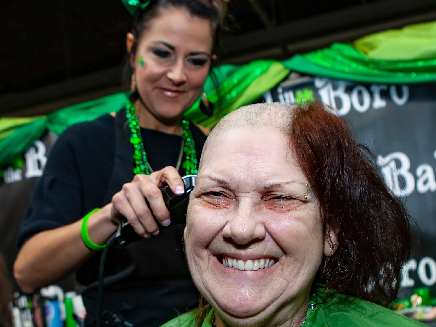 Linda Nerren, who is now fighting leukemia, was among those who shaved their head at the ninth annual Bald in the Boro fundraiser for the St. Baldrick's Foundation. The event was held Friday, March 15, 2019 at Lanes, Trains and Automobiles in Murfreesboro.