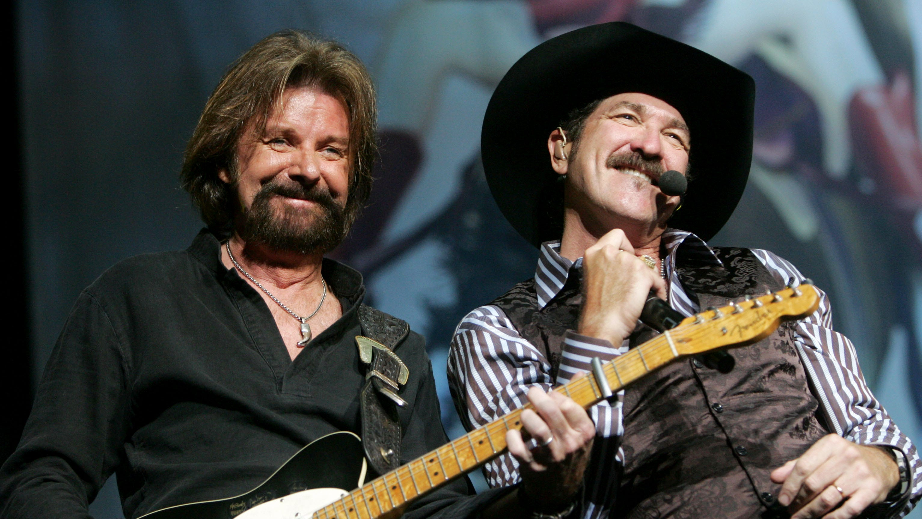 "Brooks & Dunn perform for the last time together during their ""The Last Rodeo"" tribute at Bridgestone Arena Sept. 2, 2010 in Nashville."