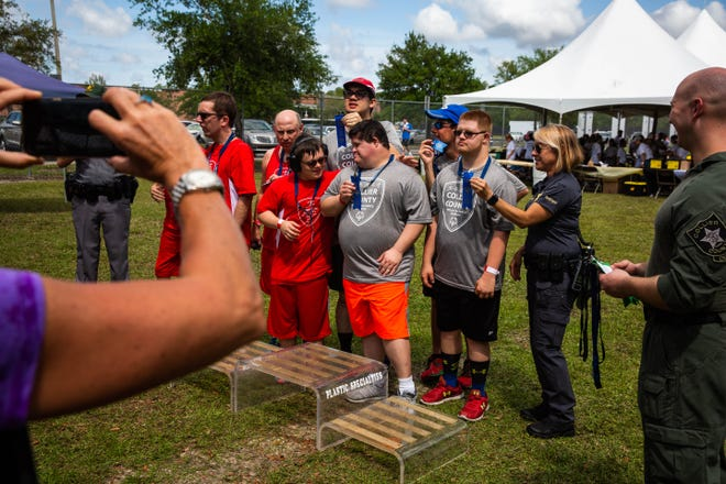 An awards ceremony is held Saturday, March 16, at Golden Gate High School during a Special Olympics event in which Collier was host to four other counties.