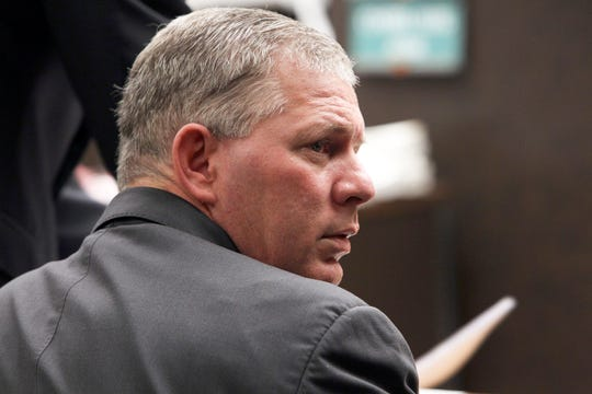 FILE - This March 5, 2012 file photo shows former New York Mets outfielder Lenny Dykstra during his sentencing for grand theft auto in the San Fernando Valley section of Los Angeles. A judge has dropped drug and terroristic threat charges filed against former Major League baseball player Lenny Dykstra after an altercation with an Uber driver.  A judge dismissed the charges Friday, March 15, 2019 after Dykstra pleaded guilty to disorderly conduct and was fined $125.