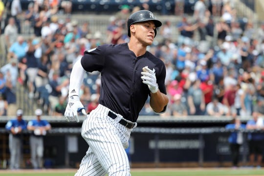 d37100c402b NY Yankees Aaron Judge response to four-outfield alignment  Home run