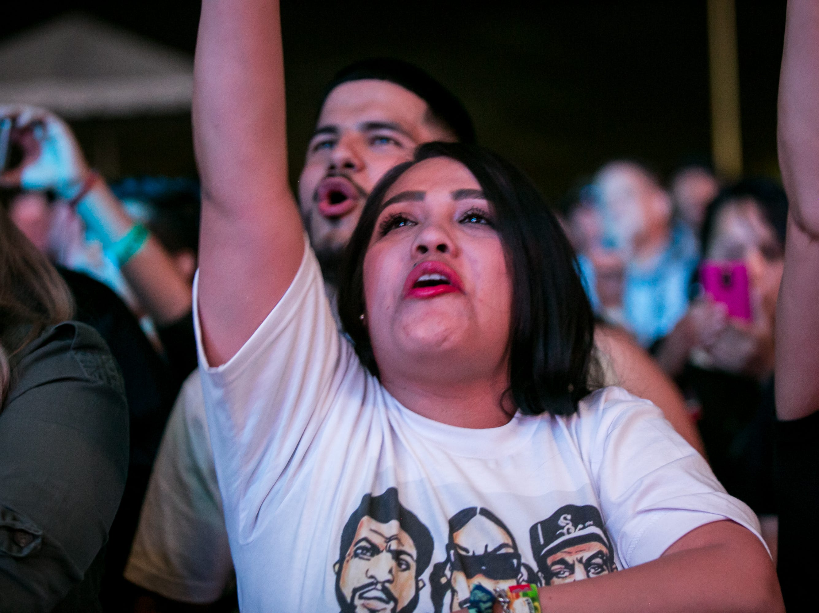 A fan cheered at Pot of Gold Music Festival at Steele Indian School Park on Friday, March 15, 2019.