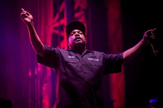 Ice Cube performs at Pot of Gold Music Festival at Steele Indian School Park.