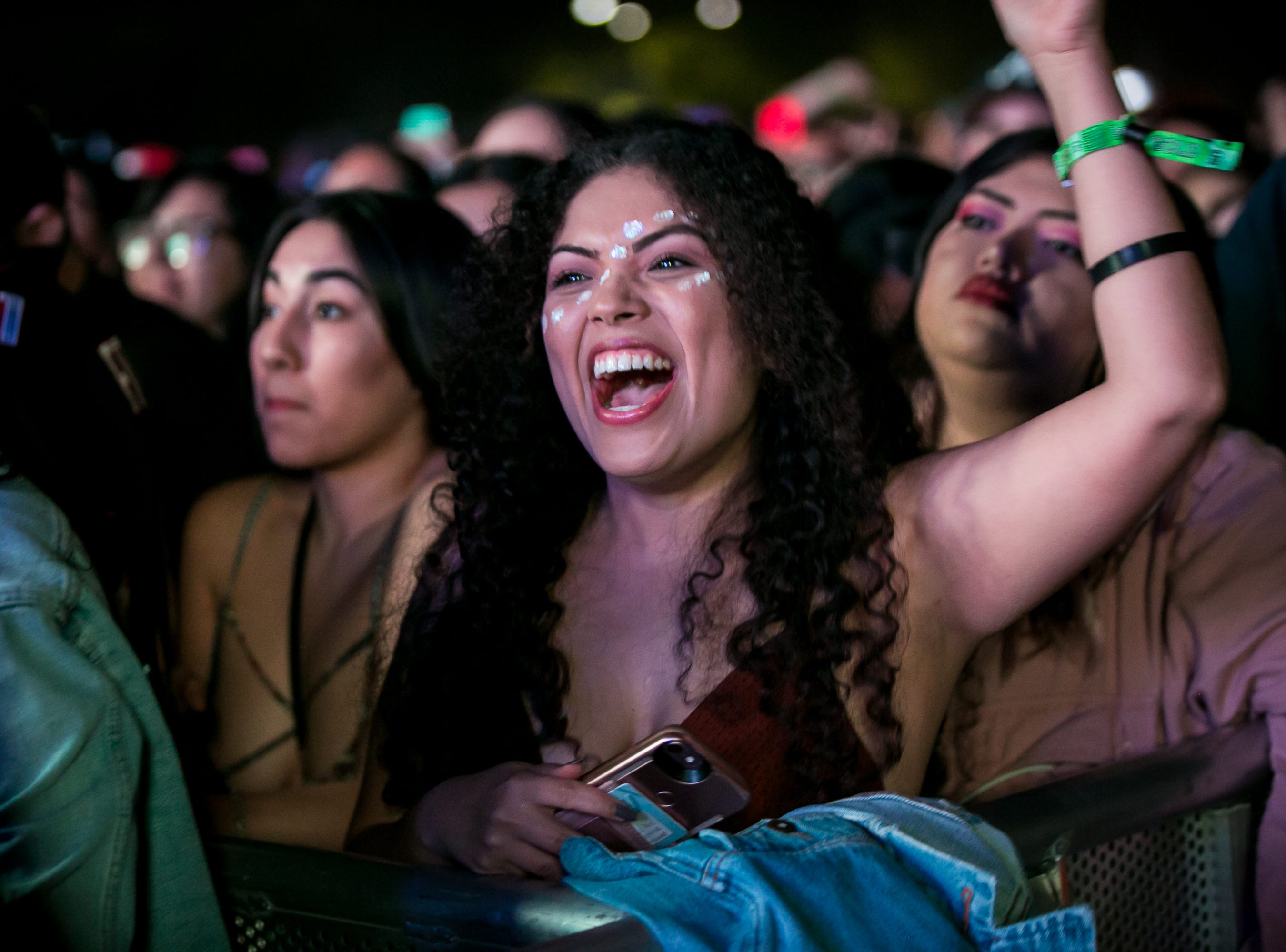Fans cheered at OZUNA's performance at Pot of Gold Music Festival at Steele Indian School Park on Friday, March 15, 2019.