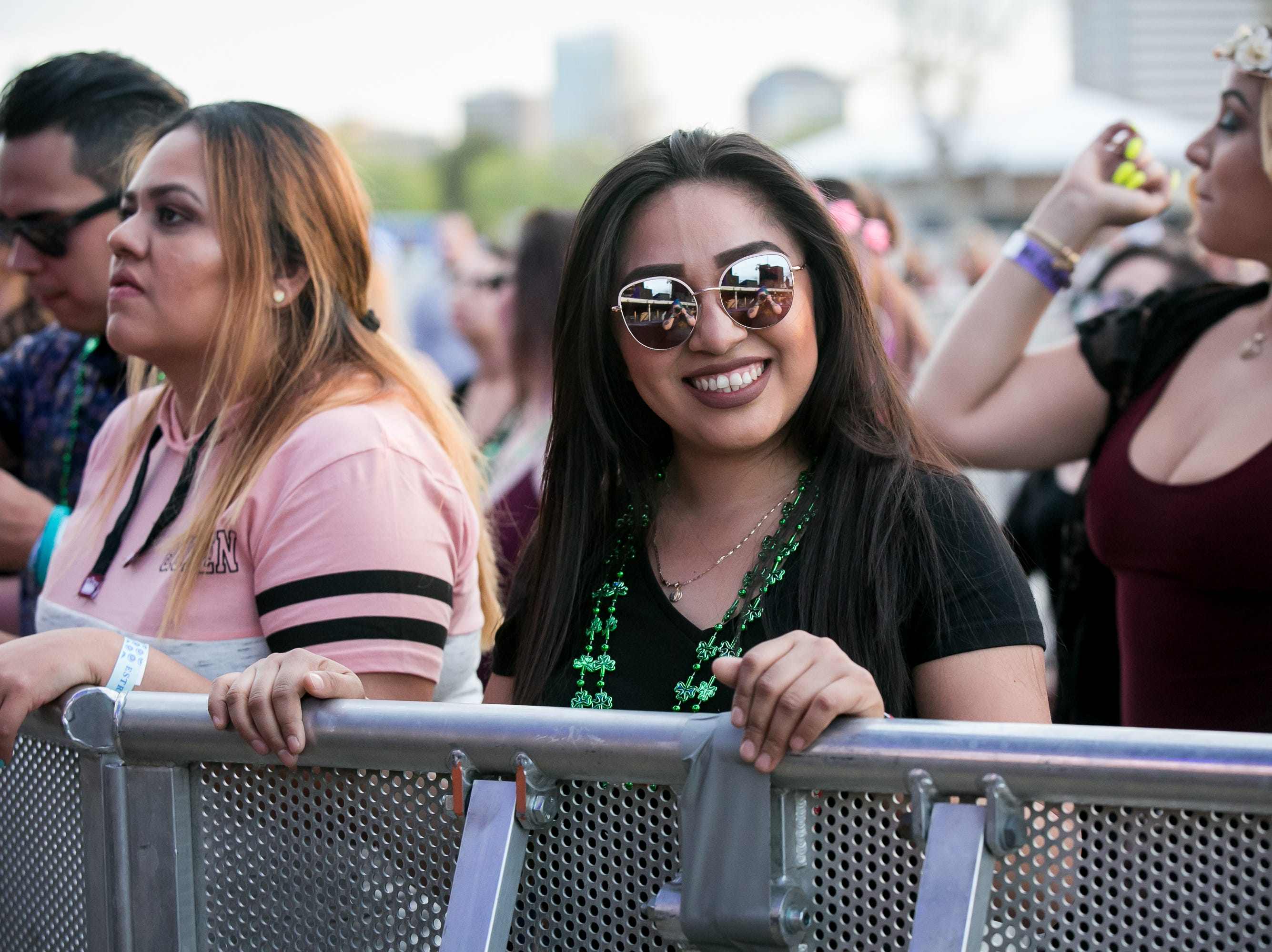 Fans enjoy the music at Pot of Gold Music Festival at Steele Indian School Park on Friday, March 15, 2019.