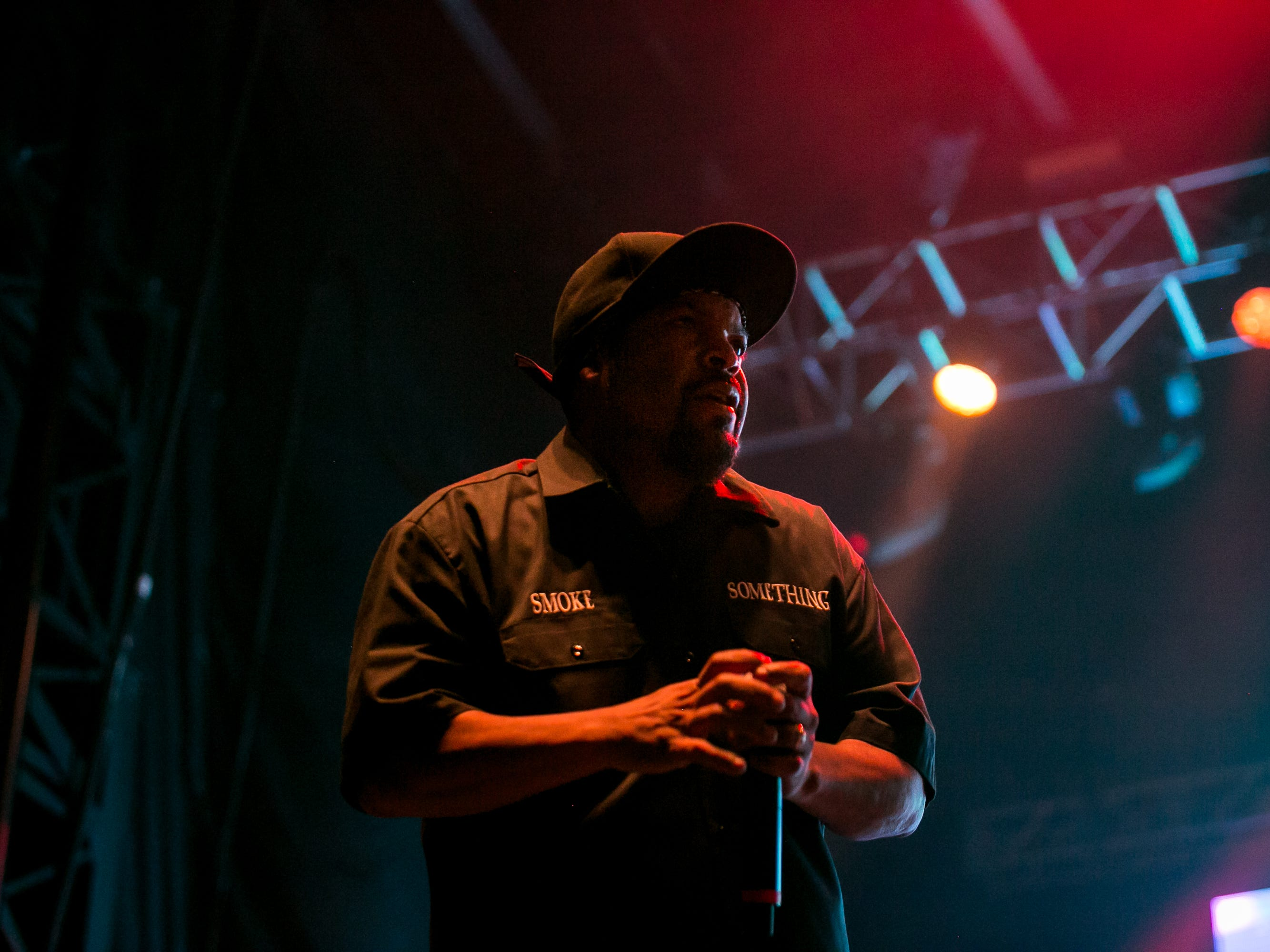 Ice Cube performs at the Pot of Gold Music Festival at Steele Indian School Park in Phoenix on Friday, March 15, 2019.