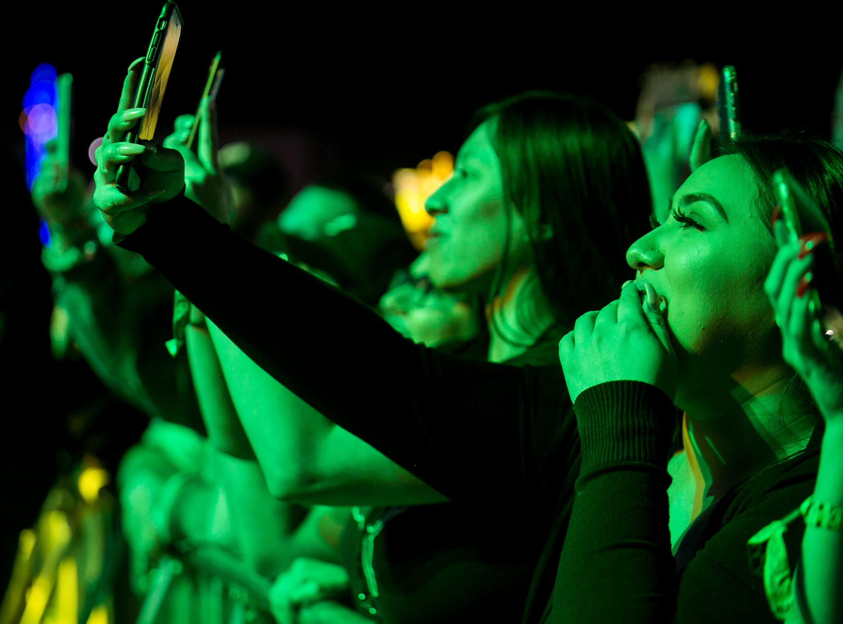 Fans watch OZUNA perform at Pot of Gold Music Festival at Steele Indian School Park on Friday, March 15, 2019.