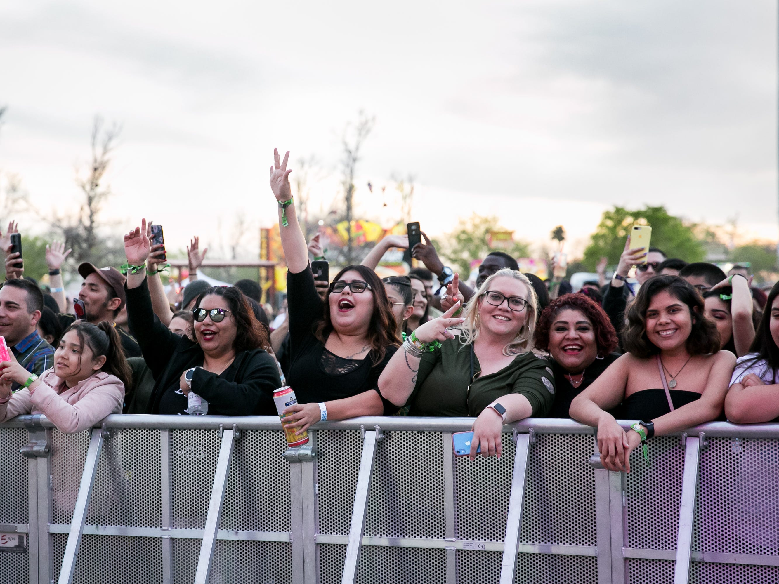 The crowd cheered at Pot of Gold Music Festival at Steele Indian School Park on Friday, March 15, 2019.