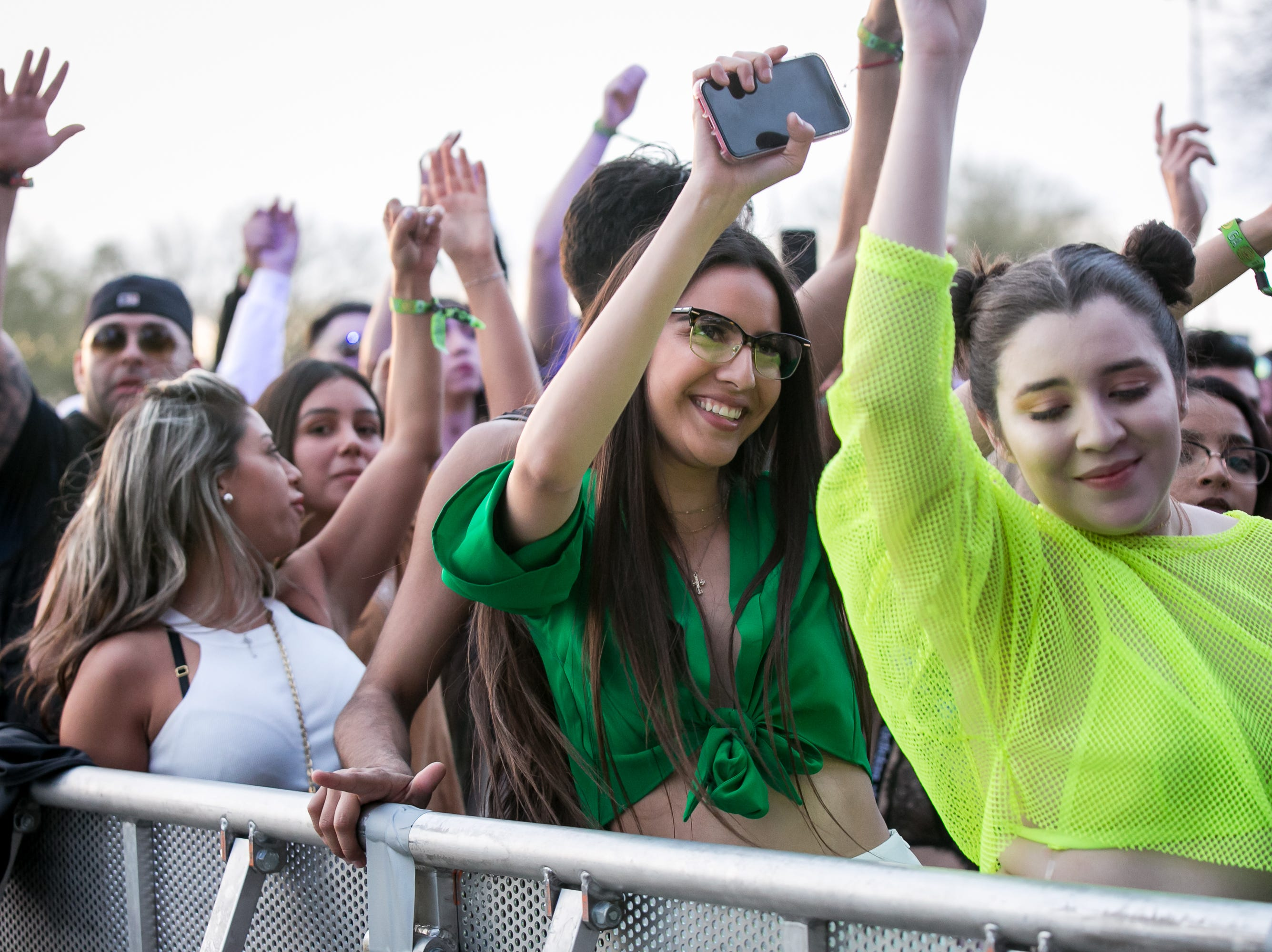 Many fans wore green at Pot of Gold Music Festival at Steele Indian School Park on Friday, March 15, 2019.