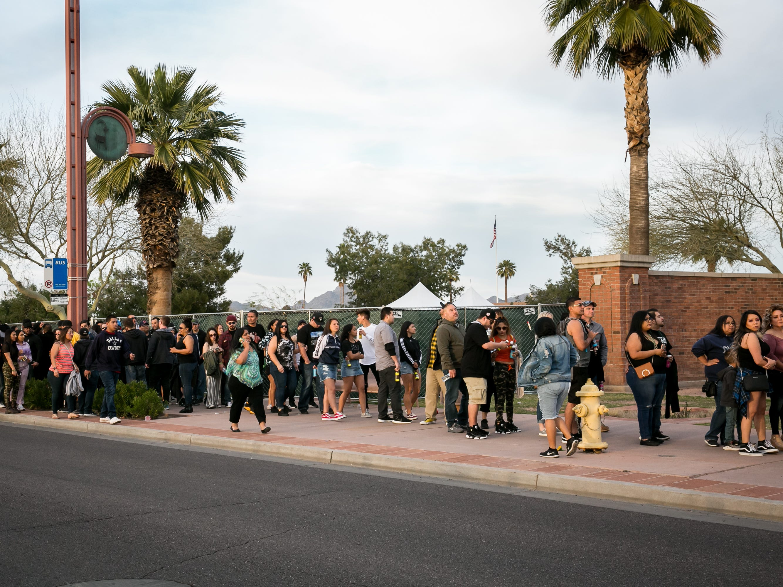 The will call line wait time was in excess of one hour at Pot of Gold Music Festival at Steele Indian School Park on Friday, March 15, 2019.