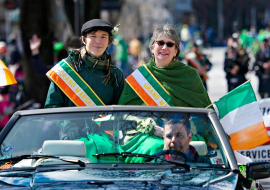 The 36th Annual York St. Patrick's Day Parade advances down Market Street in York City, Saturday, March 16, 2019. Dawn J. Sagert photo