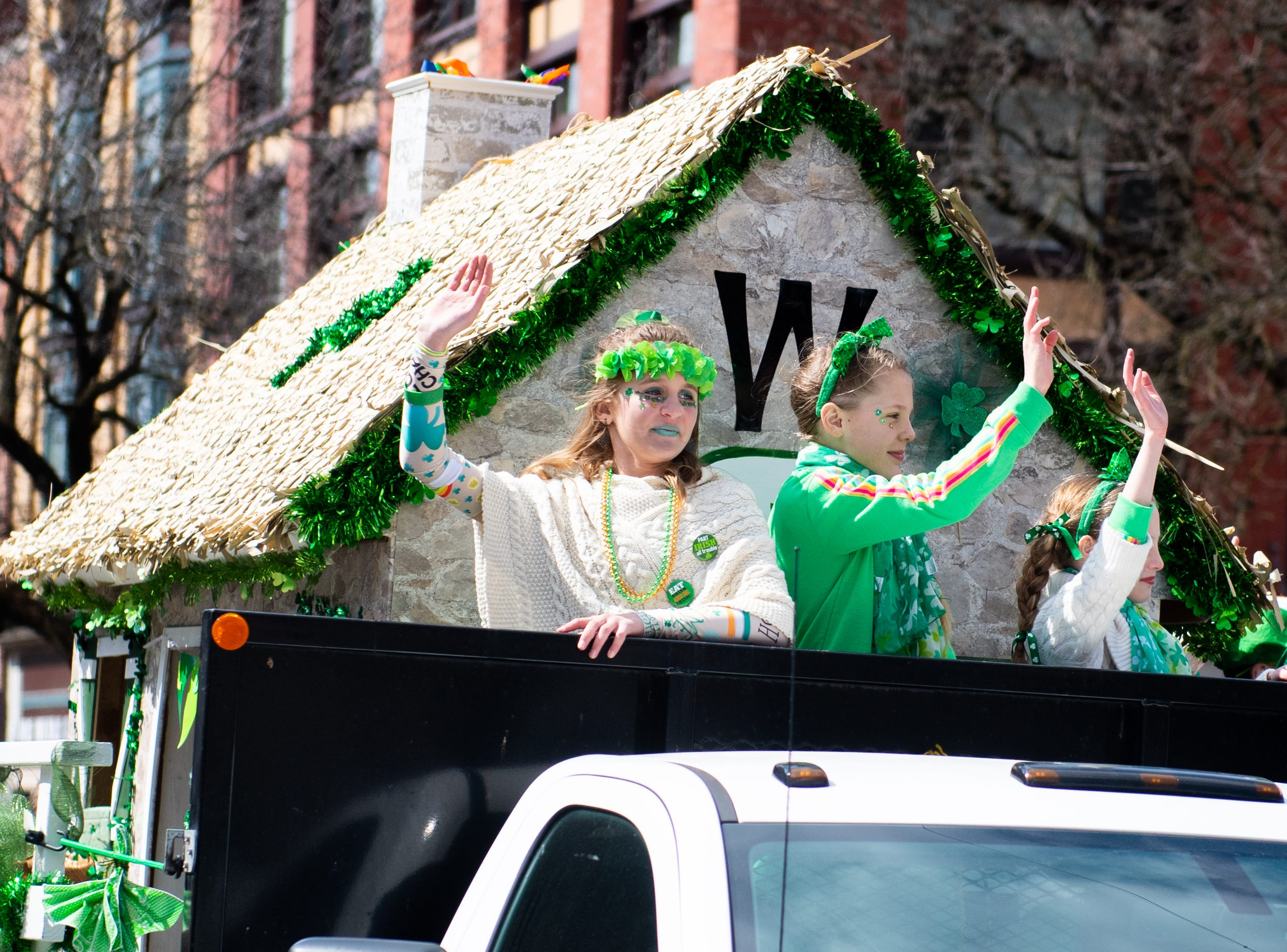No float in the St. Patrick's Day Parade was the same. Each one had its own unique flair, March 16, 2019.