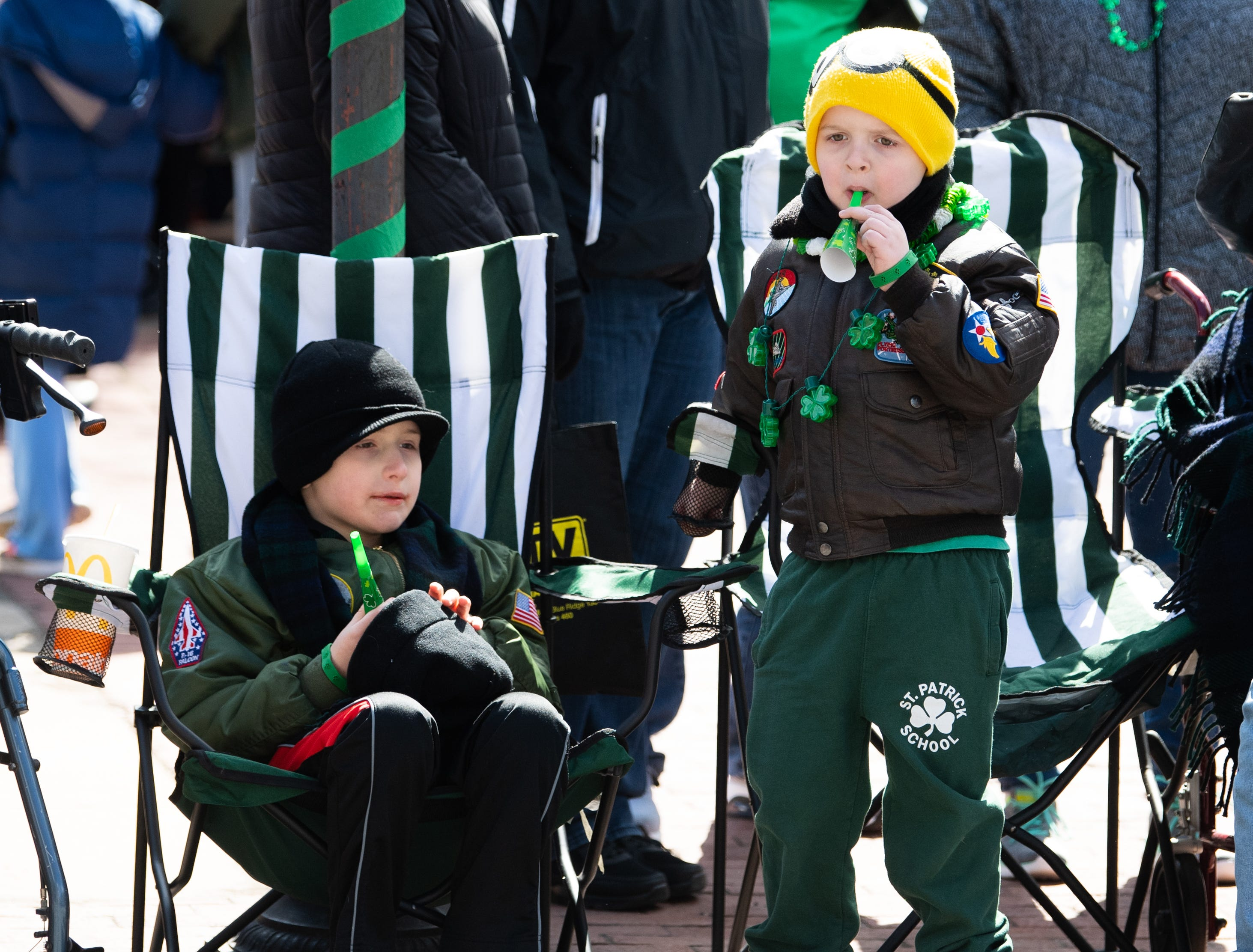 Yorkers watch the 36th Annual St. Patrick's Day Parade, March 16, 2019.