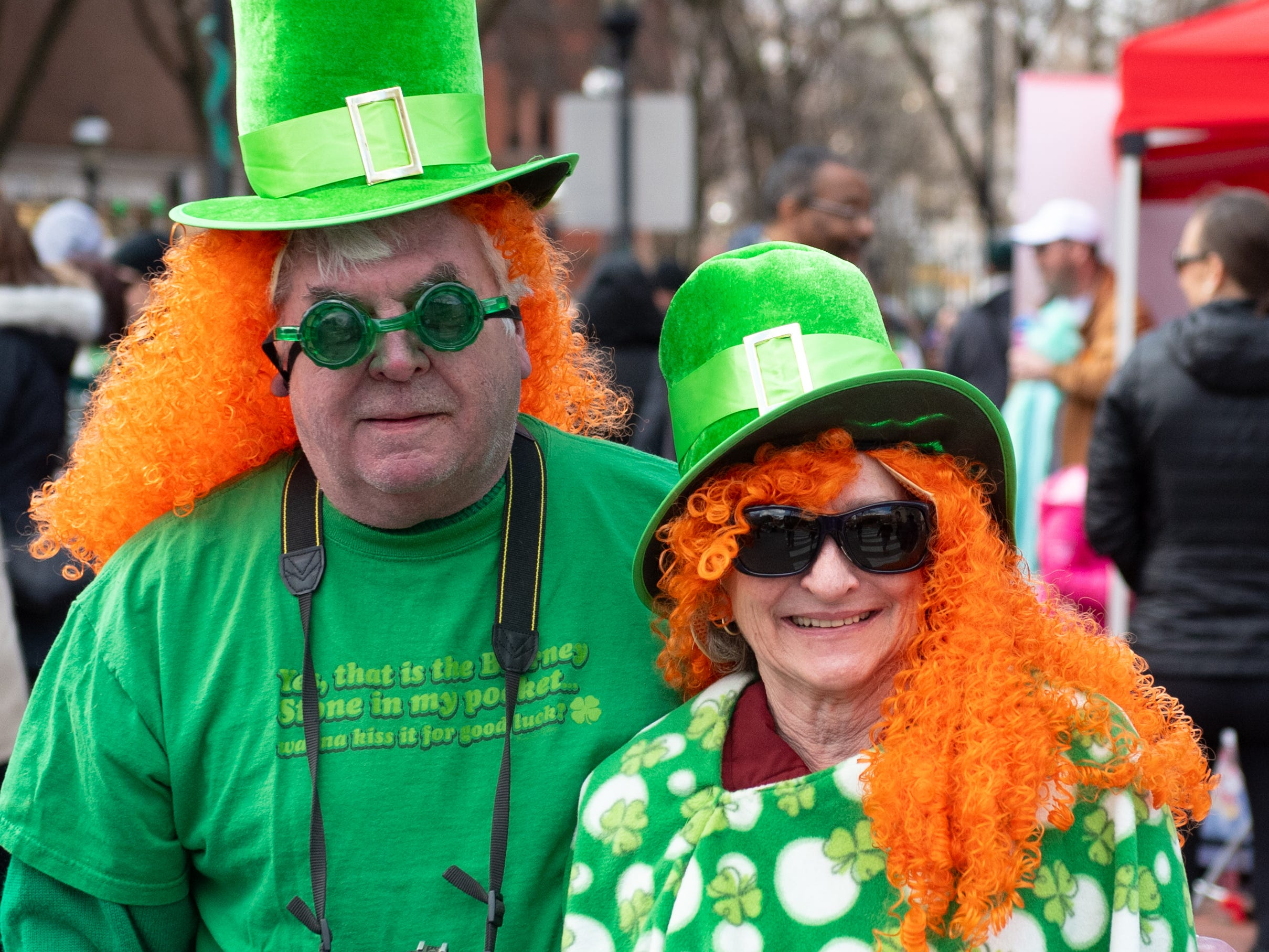 Gregg and Bonnie Moll went all out for the York St. Patrick's Day Parade, March 16, 2019.