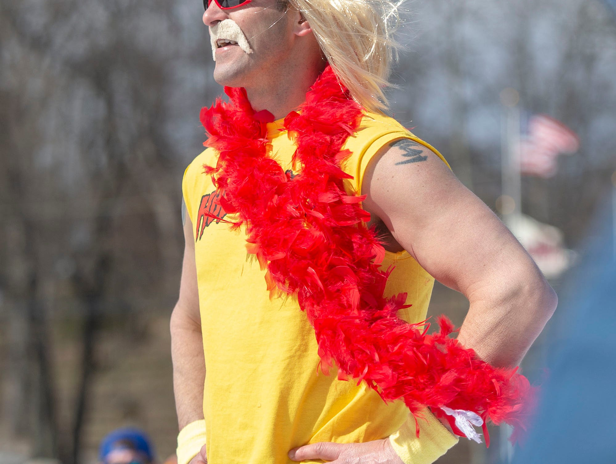 'Hulk Hogan' won the annual costume competition at the end-of-season pond skimming at Roundtop Mountain Resort on Saturday, March 16, 2019.