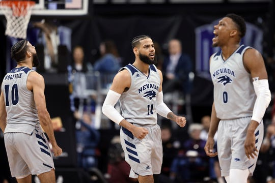Caleb Martin, (10) Cody Martin (11) and Tre'Shawn Thurman and the rest of the Wolf Pack will learn their NCAA Tournament fate on Sunday.