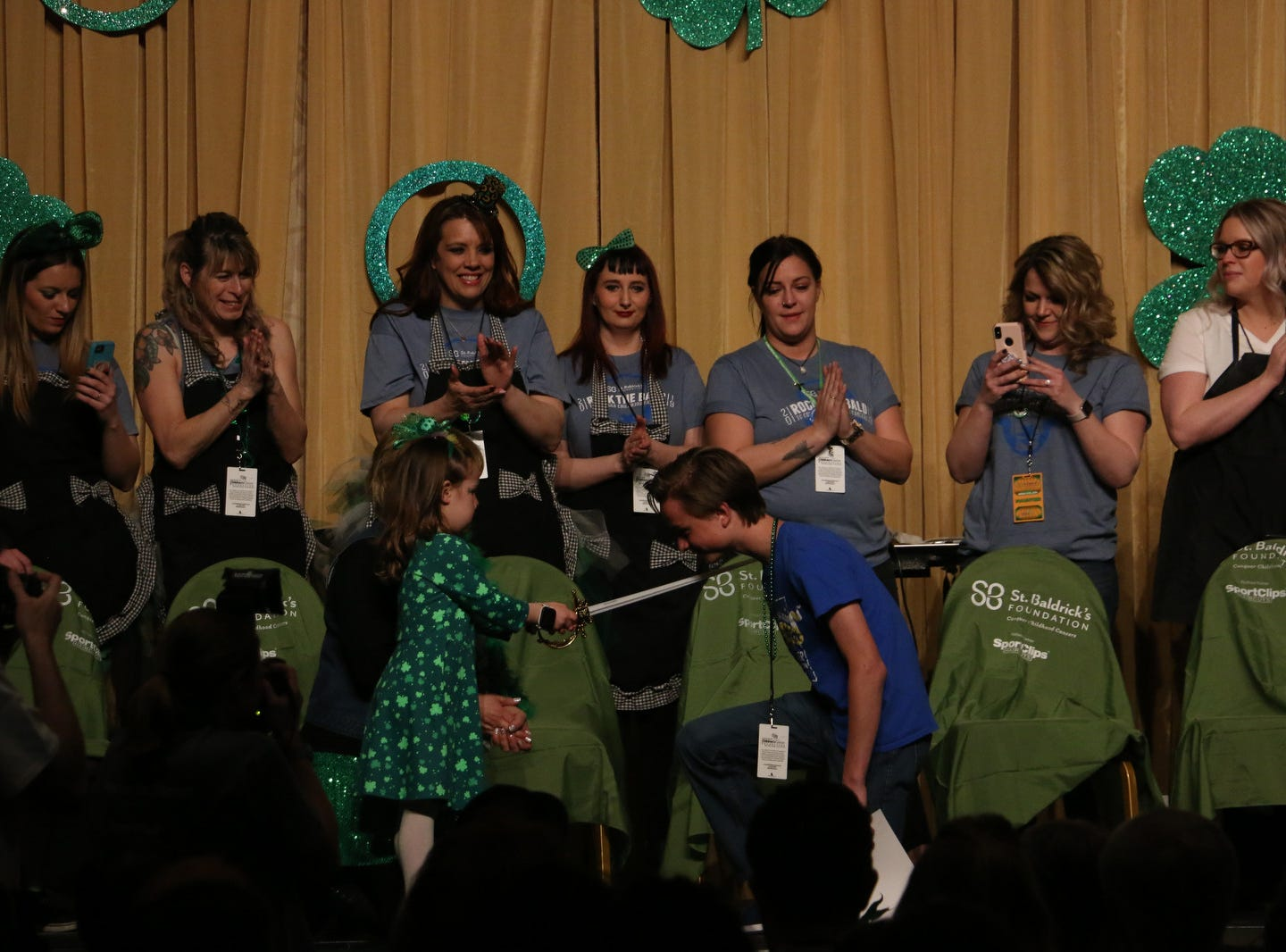 The Northern Nevada Children Cancer Foundation and the St. Baldrick's Foundation's fundraising head-shaving event at the Downtown Reno Ballroom on March 15, 2019.