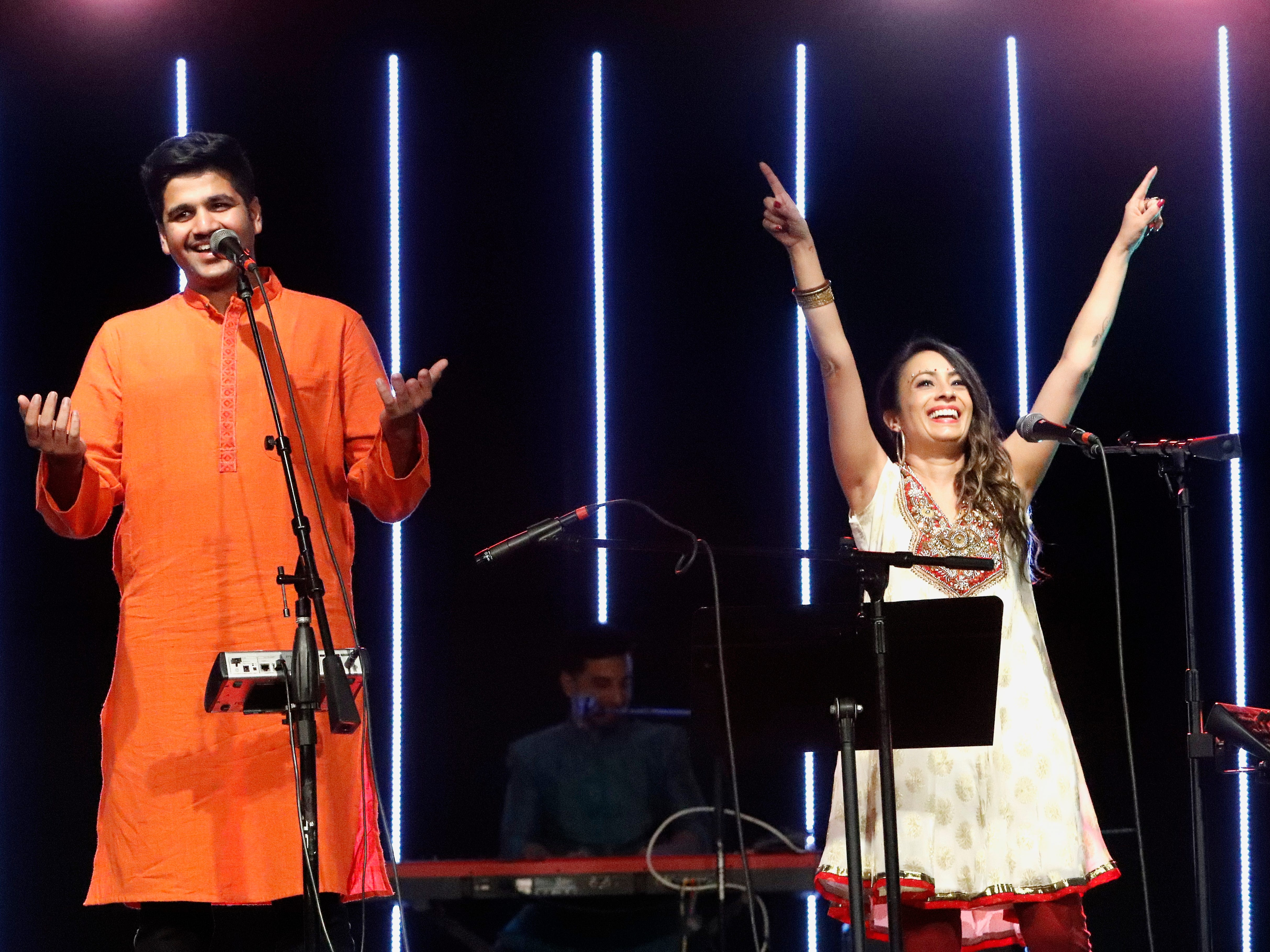 International students from Bethel Church's School of Supernatural Ministry present the Concert of the Nations on Thursday, March 14, 2019, in Redding. Pictured are Jeremiah D'Souza and Amy Kuruvilla (India).